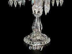 A Pair Of Magnificent Four Light Baccarat Candelabra / Candle Holder Lustres