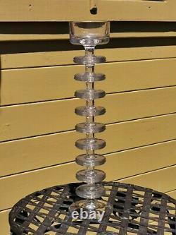 A Wedgwood Glass Sheringham Candlestick with Nine Disks! Ronald Stennett-Wilson