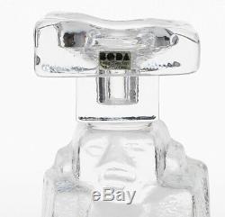 An Erik Hoglund Boda candlestick Brutalist Sculptural Swedish art glass