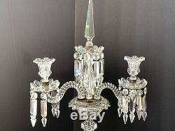 Antique Baccarat Crystal 4 Light 4-Arm Medallion'S Candelabra 24 3/4