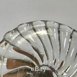 Antique Baccarat French Crystal Bambous Swirl Candlestick