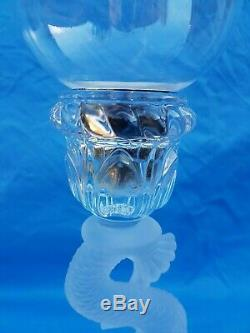 Antique French, superb candlestick baccarat, crystal, 20th