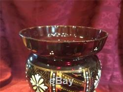Antique Victorian Ruby Mantle Lustre Luster Pair