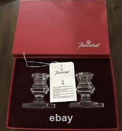 BACCARAT Beautiful & Stunning Regence Crystal Candle Holder Candlestick MIB