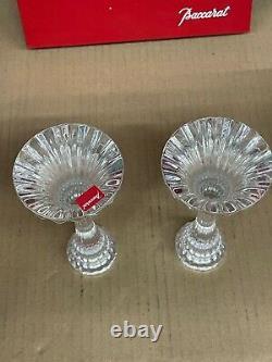 BACCARAT Crystal MASSENA Candlesticks #1830634 New in Box