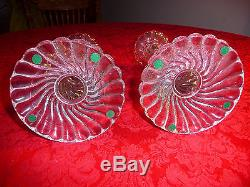 BACCARAT GLASS CANDLE HOLDER