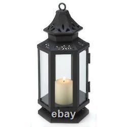 BULK 10 Black 8 Stagecoach Lantern Wedding Candleholder Centerpiece