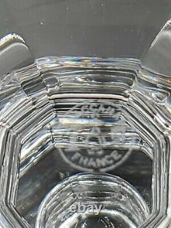 Baccarat Clear Crystal Regence Candlestick Candle Holders 3 1/4 tall Pair of 2