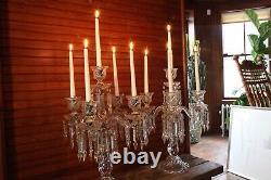 Baccarat Crystal Candelabra/candle Holder. Magnificent Five Light H23