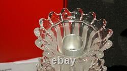 Baccarat Crystal Douphin Candelabra Candlestick In Original Box