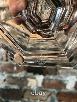 Baccarat Crystal FLASH SALE Harcourt Candlesticks Pair 19s logo Vintage