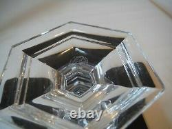 Baccarat Crystal Versailles Single Candlestick Candle Holder 6 7/8 Tall Signed