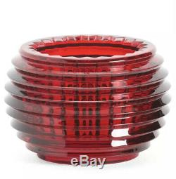 Baccarat Eye Votive Candle Holder Red Crystal Brand New In Box