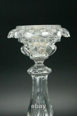 Baccarat Medallion 4 Lights Candelabra 3 Arms Bobeches Prisms Crystal France 682
