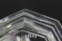 Baccarat Regence Pattern Set of 3 Crystal Glass Candlesticks