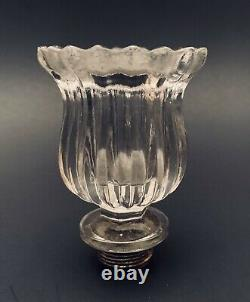 Baccarat Scalloped Glass Candle Cup Candelabra Candlestick Socket Part Finial