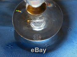 Baccarat Vega Candle Holders Candlesticks Pair Made in France