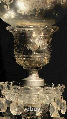 Baccarat antique Helical Twist Pattern Crystal Candelabras 1 light Prism with