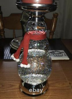 Bath & Body Works Globe Snowman 3-Wick Candle Holder Holiday 2020