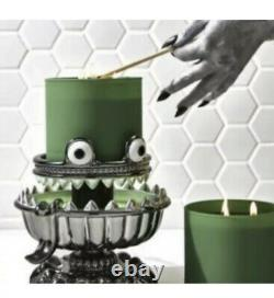 Bath & Body Works Halloween 2021 Monster Green Light Up 3 Wick Candle Holder