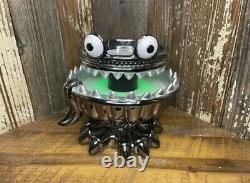 Bath & Body Works Halloween 2021 Monster Light Up Green 3 Wick Candle Holder