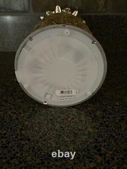 Bath & Body Works Pineapple Glitter Globe Pedestal Candle Holder Lights Up New