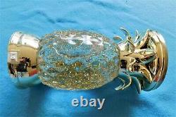 Bath & Body Works Pineapple Glitter Water Globe Pedestal Candle Holder New