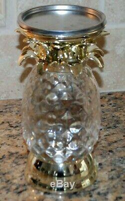 Bath & Body Works Pineapple Water Globe Candle Holder Lights Up New