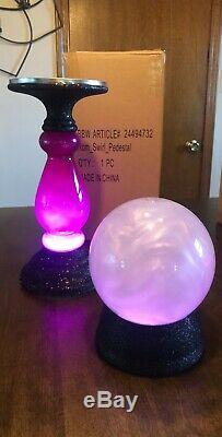 Bath and body works pedestal candle holder Plus Crystal Ball Halloween 2019 Rare