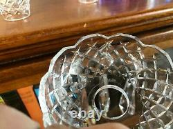 Beautiful Waterford Crystal Pair Of Three Part Candelabra 10 Candlesticks