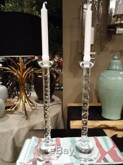 Crystal Teardrop Cut Candleholders Tabletop Taper Candle Holders Wedding Gift
