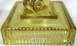 Depression Glass Candle Stick Candle Holders Yellow Koi Fish Taper Unusual Base