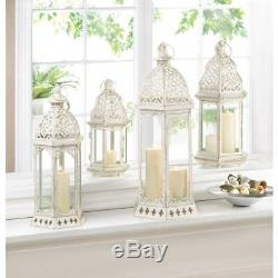 Distressed 15.8in Tall Lantern Candle Holder Wedding Centerpiece