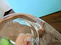 Elsa Peretti for Tiffany BONE 9.5 CANDLESTICKS Crystal Clear SIGNED Rare Pair