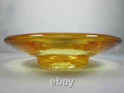 FIRE AND LIGHT Recycled Art Glass Candle Holder Wine Bottle Stand Coaster Citrus