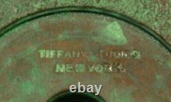 Fine antique Tiffany Studios bronze candle stick-original and fine-15419