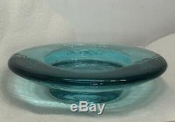 Fire And Light Recycled Art Glass Aqua Wine Stand/ Candle Holder 6.5