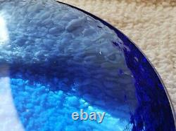 Fire and Light Recycled Glass 4 1/4 Cobalt Blue Candle Holder Coaster Scratch