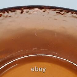 Fire and Light Votive Recycled Glass Candle Holder Bowl Orange Copper Signed