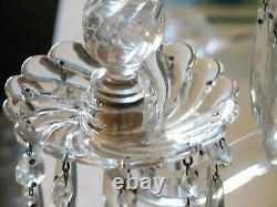 Fostoria QUEEN ANNE COLONY Large 20 Inch Banquet Candelabra 4 Light withPrisms