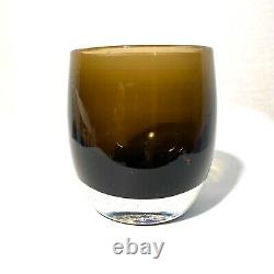GLASSYBABY Bark Glass Votive Candle Holder with Label NO Box Glassy Baby