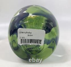 Glassybaby 2020 Seahawks THRIVE Votive Candle Holder Glass NEW Limited Sold Out
