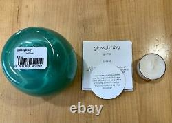 Glassybaby BELIEVE Aqua Green Votive Candle Holder Hand Blown Glass NEW IN BOX