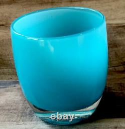 Glassybaby Blue Retired Hand Blown Glass Candle Votive