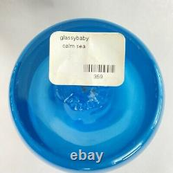 Glassybaby Calm Sea Blue Votive Candle Holder