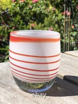 Glassybaby Candy Cane Votive Candle Holder