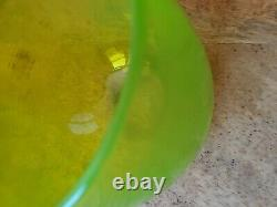 Glassybaby Chartreuse Lime Green Drinker Art Glass Candle Holder Twist