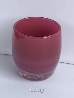 Glassybaby'Evelyn' Pink Votive Candle Holder #1130 Absolutely Stunning Retired