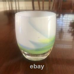 Glassybaby Hawkfetti Votive Candle Holder. 2017 Limited Edition SEAHAWKS