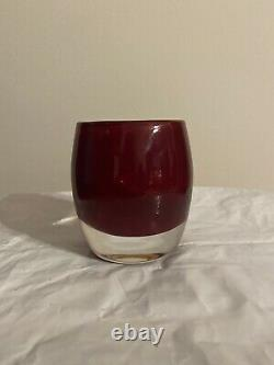 Glassybaby Red Candle Holder RARE